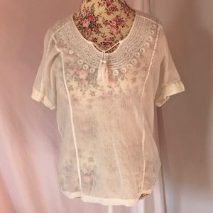 Lucky Brand Small White Blouse